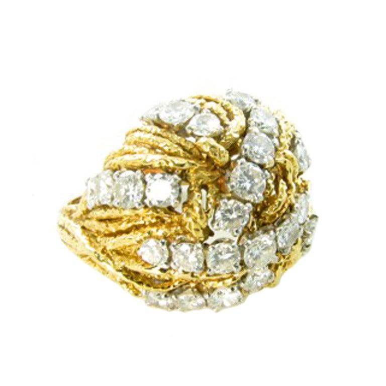 boucheron platinum and gold ring at 1stdibs