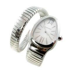 Bulgari Lady's Stainless Steel Serpenti Wristwatch