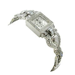 Rolex Lady's White Gold and Diamond Braclet Watch