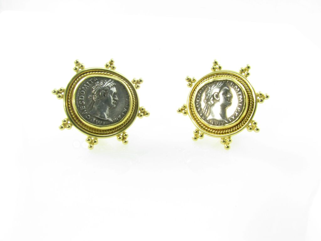 elizabeth gage gold and ancient coin earrings at 1stdibs