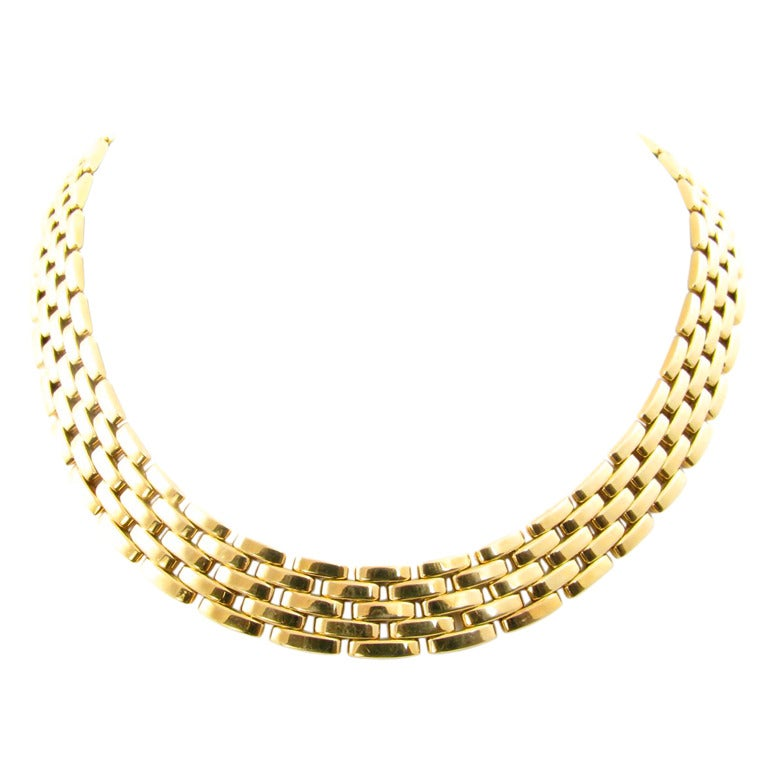 Cartier Paris Gold Panther Necklace At 1stdibs