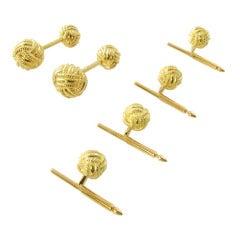 Tiffany & Co. Schlumberger Gold Woven Knot Dress Set