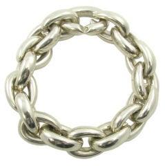 A stylish sterling silver Hermes bracelet