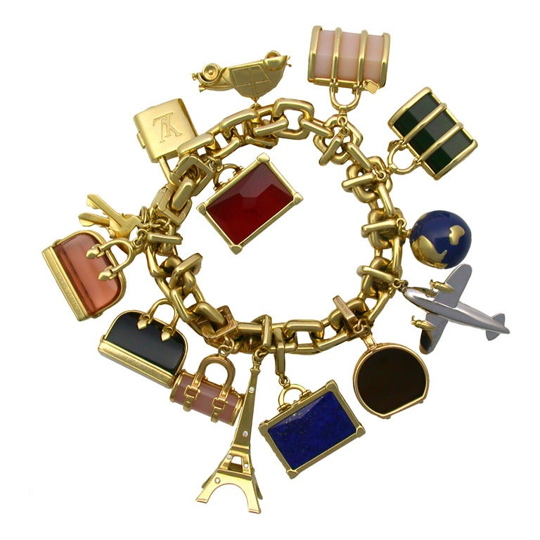 exceptional louis vuitton gold charm bracelet at 1stdibs