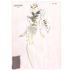 Givenchy Croquis of a Day Dress