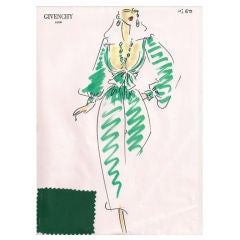 Givenchy Croquis of an Evening Dress