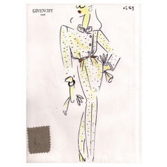 Givenchy Croquis of a Pants Ensemble
