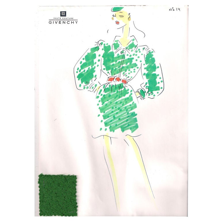 Givenchy Croquis of a Coat 1