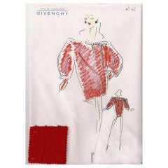 Givenchy Croquis of a Coat