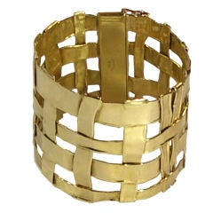 TIFFANY & CO. Gold Lattice Bracelet