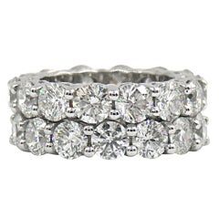 Diamond Platinum Common Prong Eternity Bands