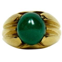 DAVID WEBB Cabochon Emerald Ring