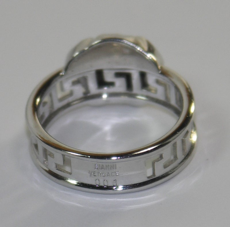 gianni versace white gold ring at 1stdibs