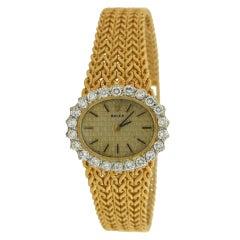 ROLEX Yellow Gold and Diamond Lady's Wristwatch