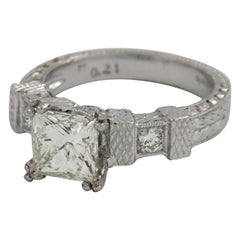 Platinum and Princess Cut Solitaire