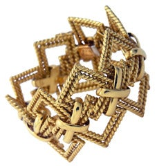 Tiffany Wide Open Gold Bracelet