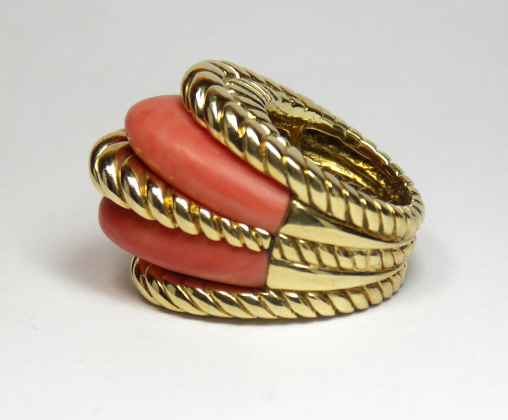 tony duquette gold and coral ring at 1stdibs