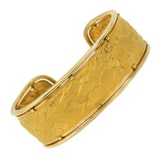 Carrera y Carrera Gold Horse Motif Bangle