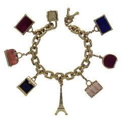 Louis Vuitton Gold Charm Bracelet