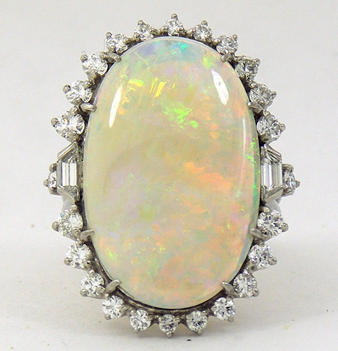 1950s Classic Opal Diamond Ring 2