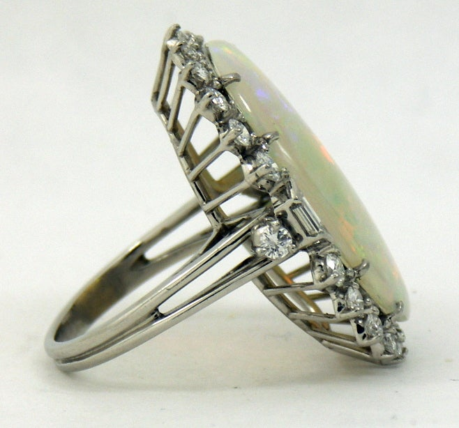 1950s Classic Opal Diamond Ring 3