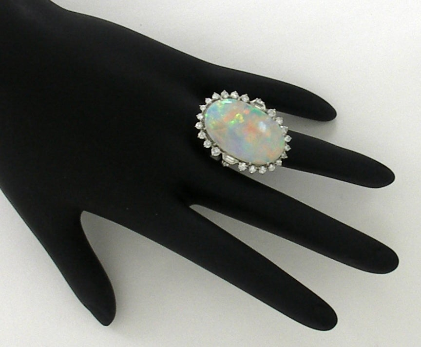 1950s Classic Opal Diamond Ring 4