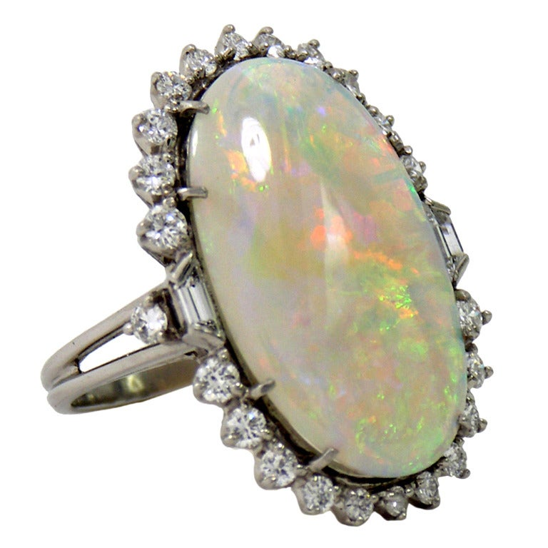 1950s Classic Opal Diamond Ring 1