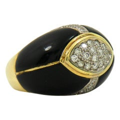 Onyx Diamond Dome Ring