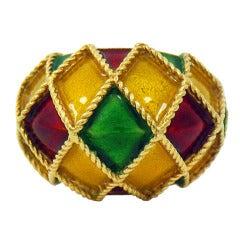 Mauboussin Enamel Gold Ring