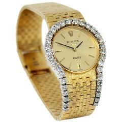 Ladies Dress Rolex Watch with Diamond