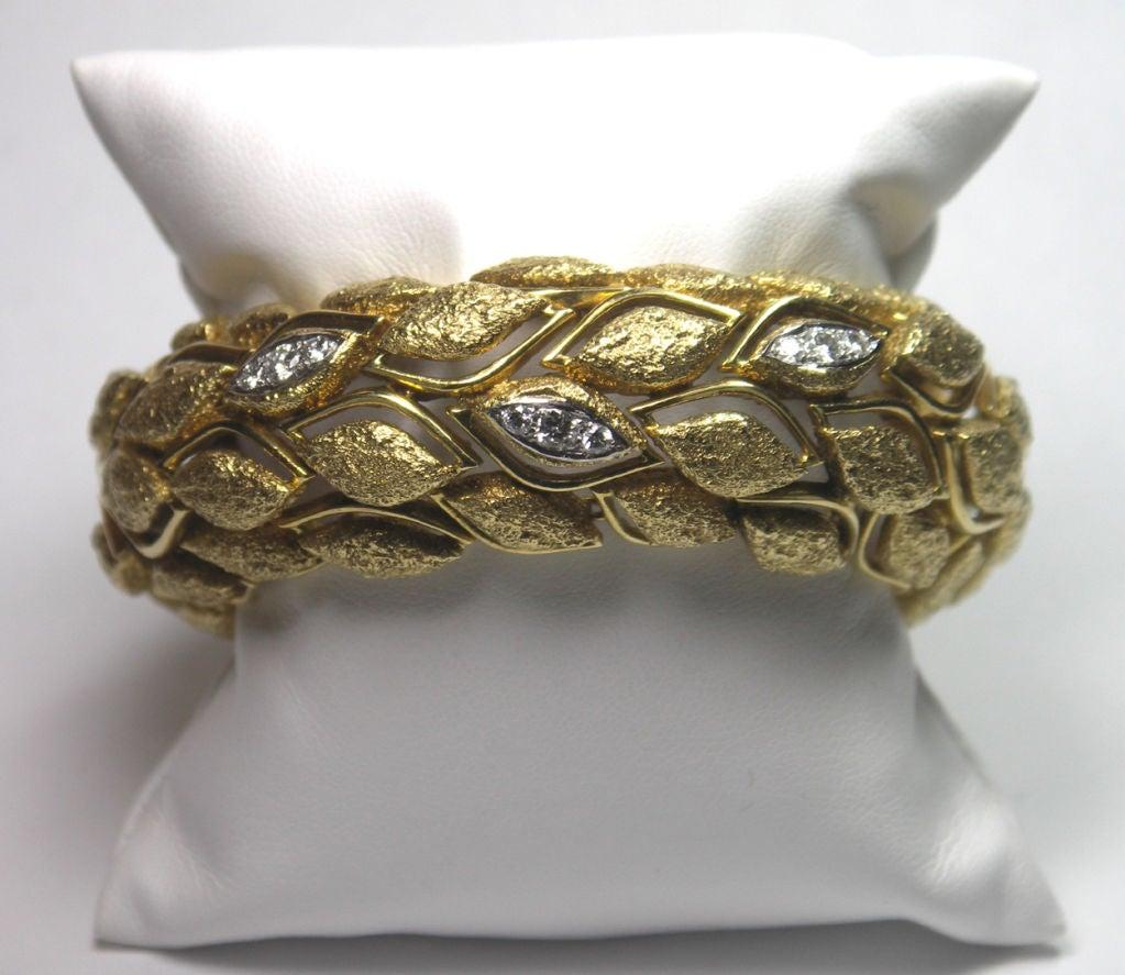Fabulous French Gold and Diamond Bracelet 2