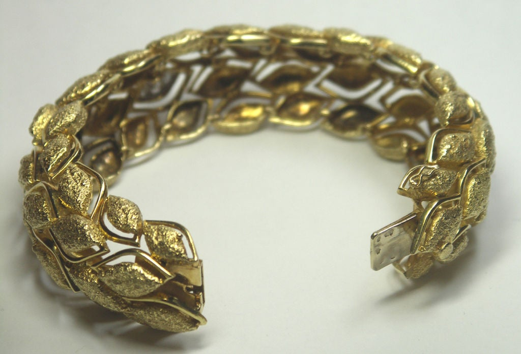 Fabulous French Gold and Diamond Bracelet 3
