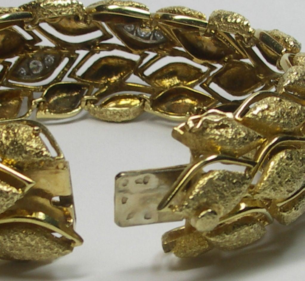 Fabulous French Gold and Diamond Bracelet 4