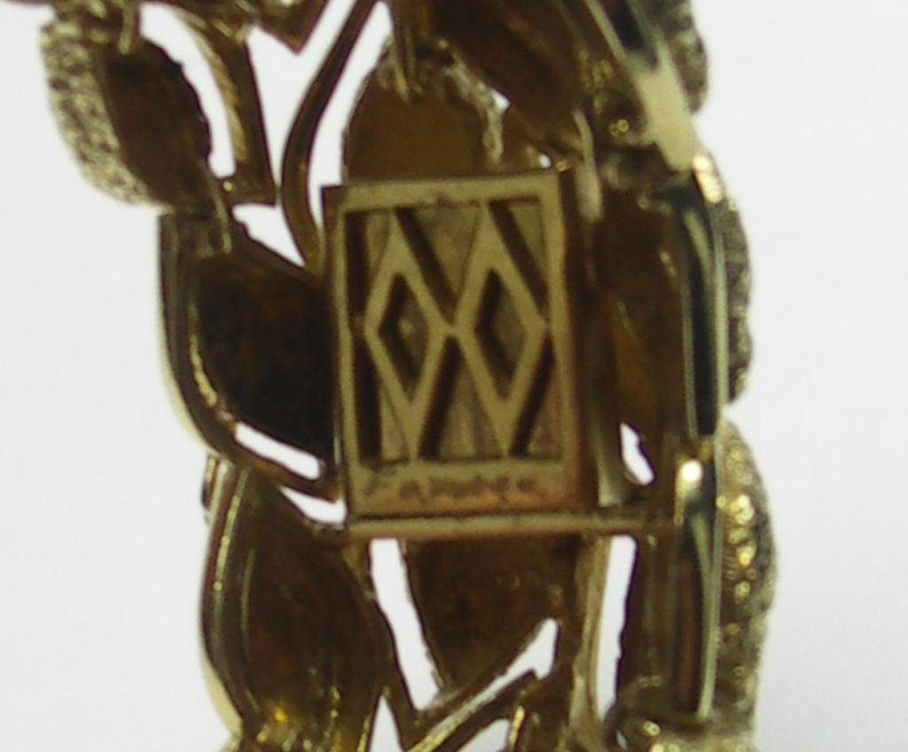Fabulous French Gold and Diamond Bracelet 5