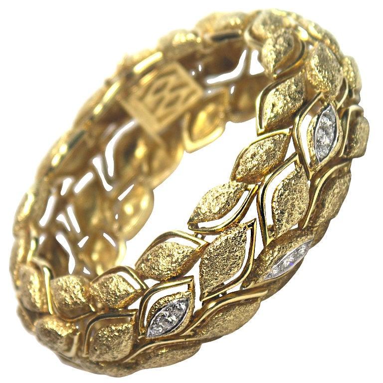 Fabulous French Gold and Diamond Bracelet 1