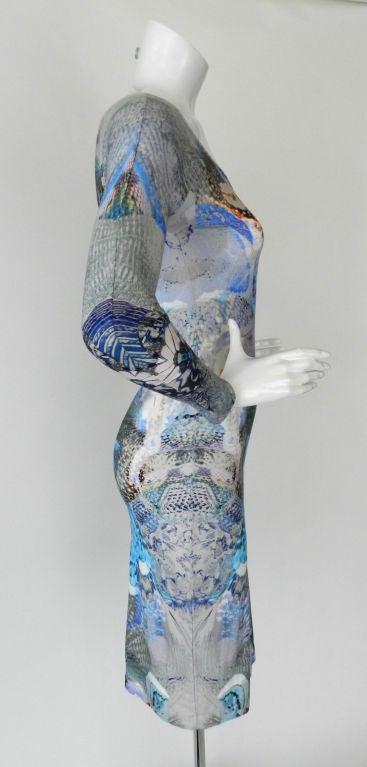 Alexander McQueen Digital Jellyfish Print Dress 3