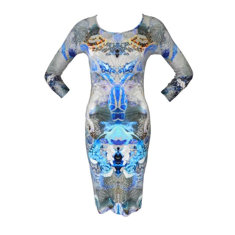 Alexander McQueen Digital Jellyfish Print Dress 1