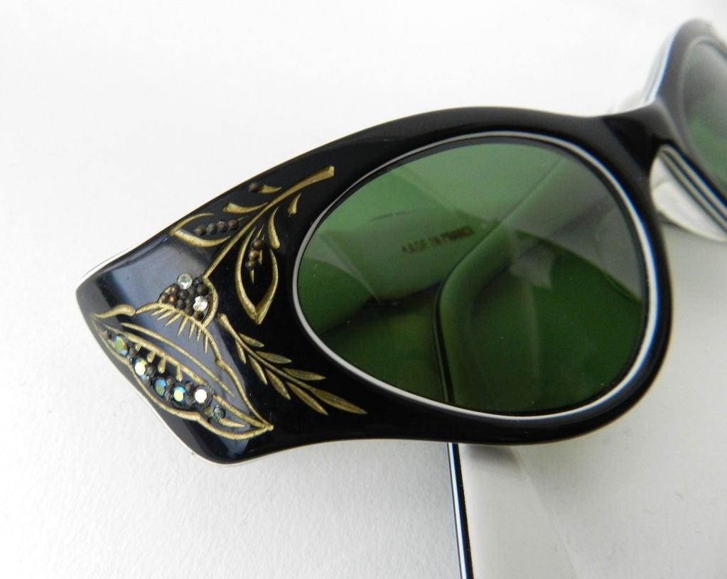 1950 S France Cat Eye Sunglasses At 1stdibs