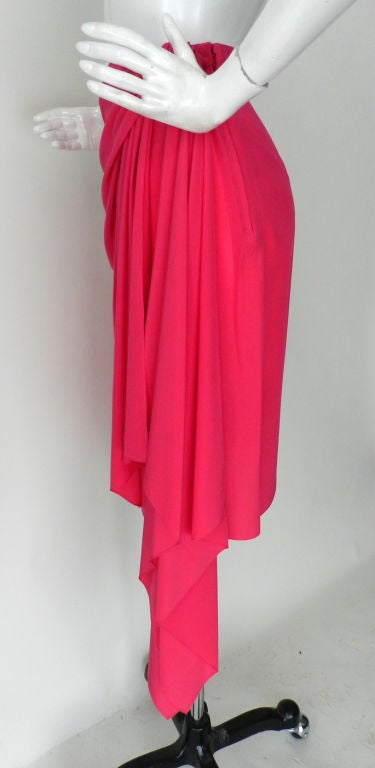 Valentino Hot Pink Silk Skirt image 3