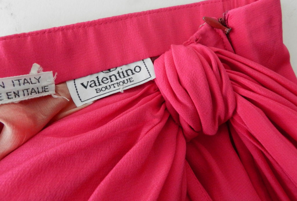 Valentino Hot Pink Silk Skirt image 5