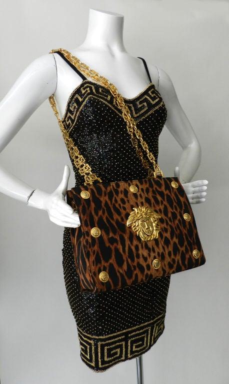 Gianni Versace Couture Iconic Leopard Medusa Purse 3