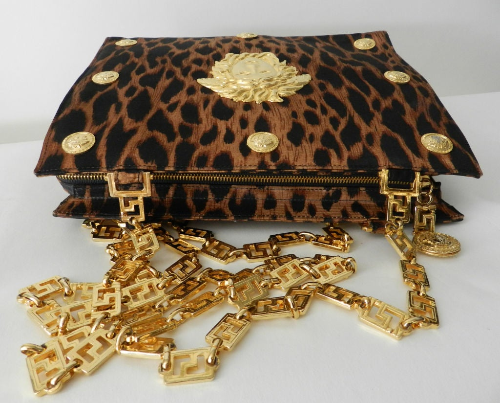 b0eedc8168 Gianni Versace Couture Iconic Leopard Medusa Purse at 1stdibs