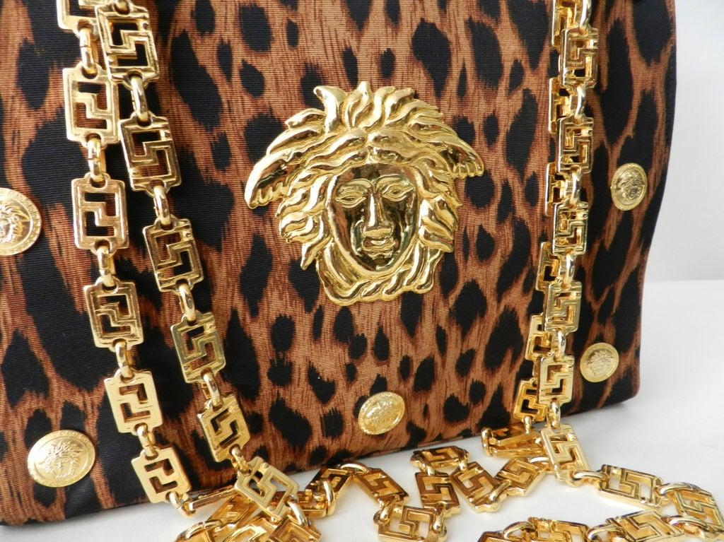 Gianni Versace Couture Iconic Leopard Medusa Purse 6