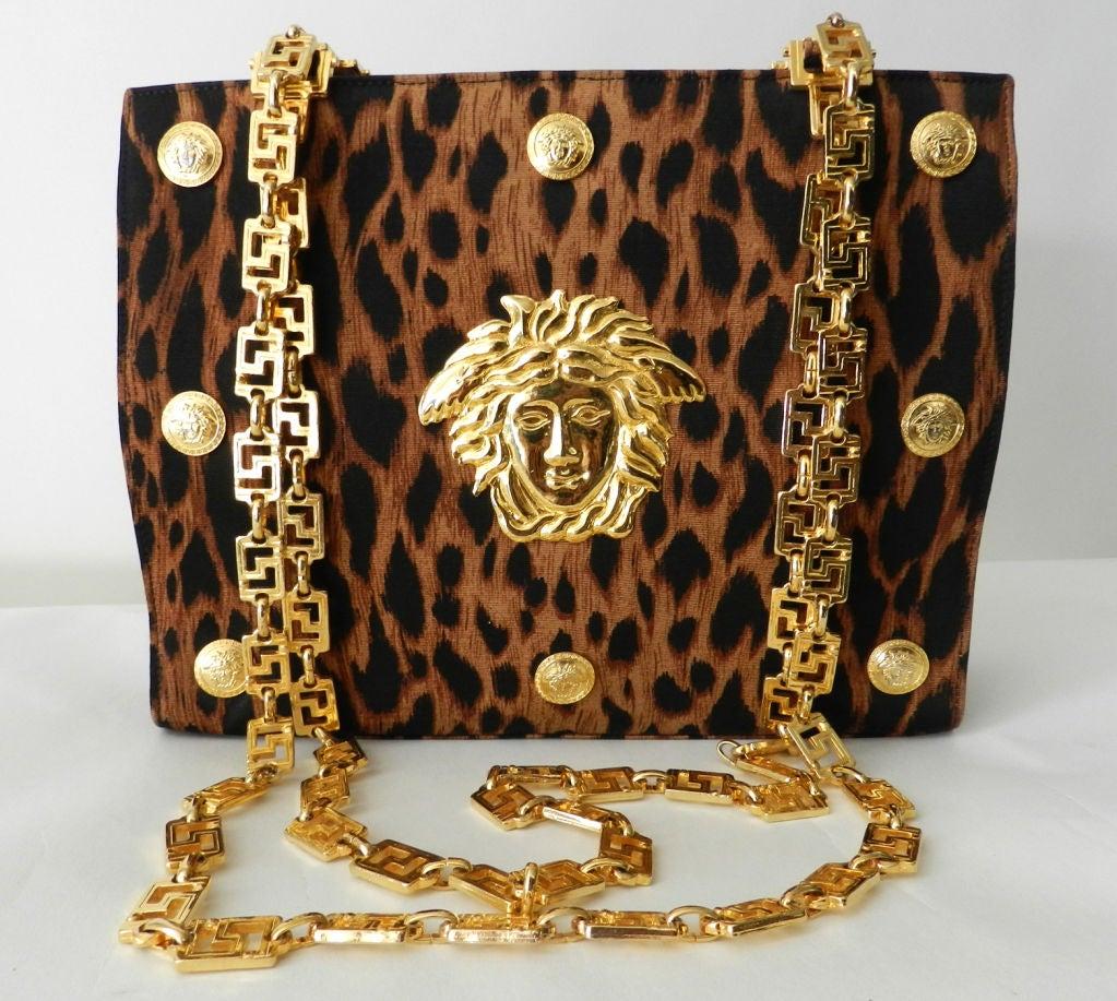 Gianni Versace Couture Iconic Leopard Medusa Purse 8