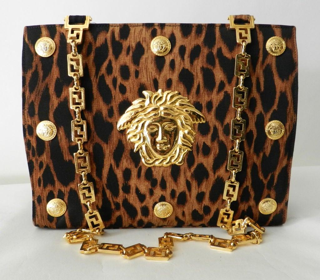 Gianni Versace Couture Iconic Leopard Medusa Purse 9