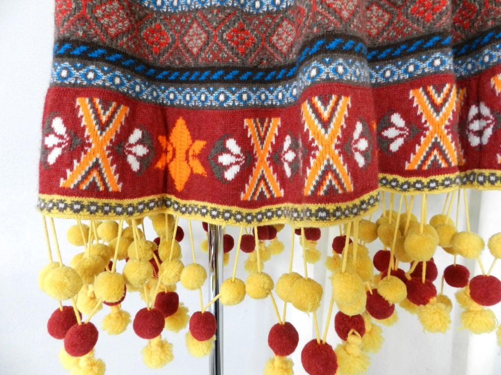 Alexander McQueen Fair Isle Knit Poncho 6