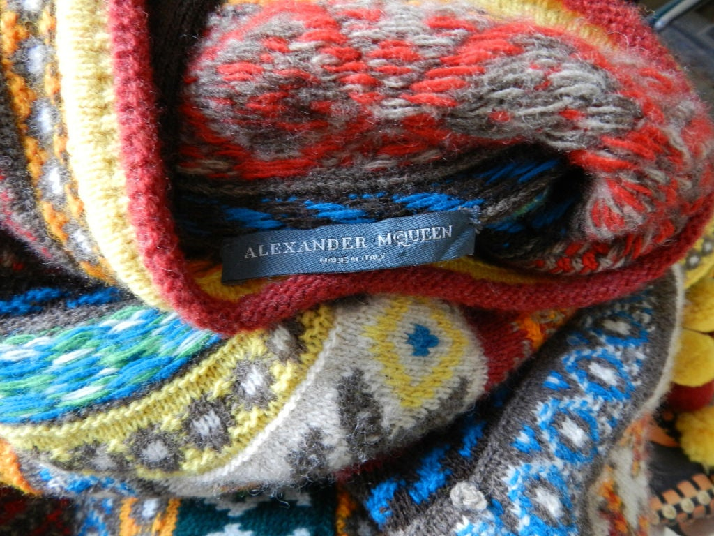 Alexander McQueen Fair Isle Knit Poncho image 7