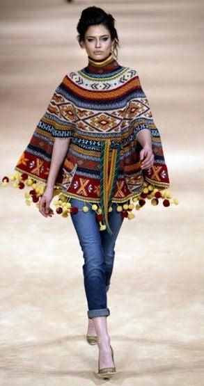 Alexander McQueen Fair Isle Knit Poncho image 8