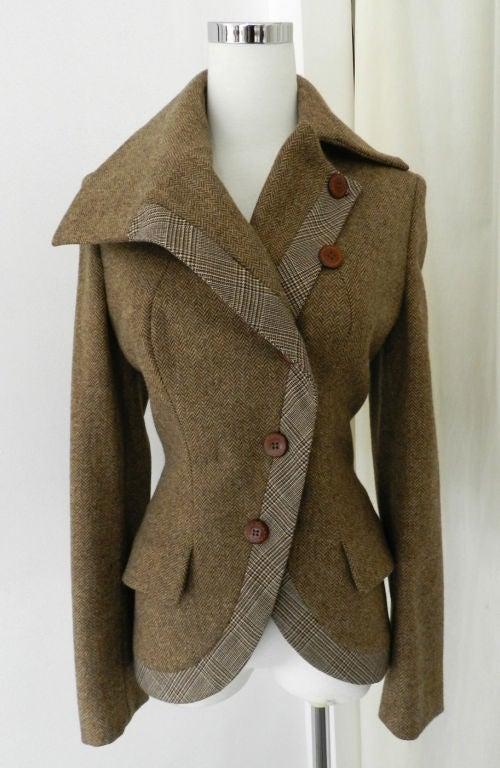 Alexander McQueen Brown Wool Riding Jacket image 3