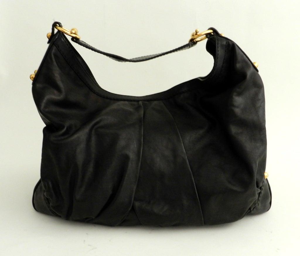 Gucci Black Large Jockey Hobo Bag 2